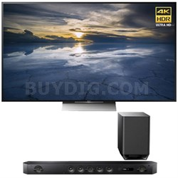 XBR-65X930D 65-Inch Class 4K HDR Ultra HD TV with Sony HT-ST9 Hi-Res Sound Bar