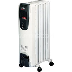 Safeheat 1500W Portable Oil-Filled Radiator with Patented Thermal Slots - White