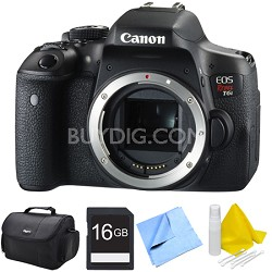 EOS Rebel T6i Digital SLR Camera Body 16GB Bundle