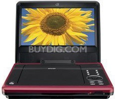 PD818R 8 Inch Portable DVD Player (Red)