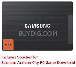 "830 MZ-7PC064D/AM 64GB 2.5"" SATA III MLC Internal SSD Desktop Kit + BATMAN"