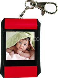 "DF15-BK 1.5"" Keychain Digital Photo Frame - Holds up to 107 Images (Red)"