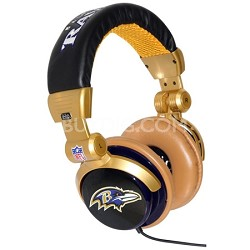 NFL Football Licensed Baltimore Ravens  DJ Style Headphones