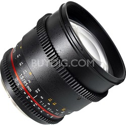 """85mm T1.5 """"Cine"""" Portrait Lens for Sony E VDSLR"""