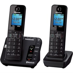 KX-TGH262B DECT 6.0 1.90 GHz Cordless Phone - Black - OPEN BOX