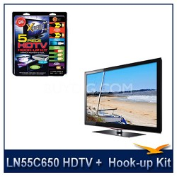 "LN55C650 - 55"" 1080p 120Hz LCD HDTV + High performance Hook-Up"