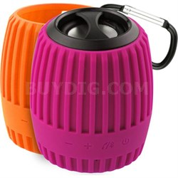 Durapod Rugged Pink / Orange Rechargable Bluetooth Weatherproof Speaker