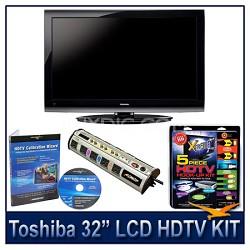 "32E200U 32"" 1080p LCD HDTV + Hook-Up + Power Protection + Calibration DVD"