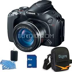 Powershot SX40 HS 35x Zoom 12.1 MP Digital Camera 4GB Bundle
