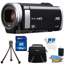 "GZ-EX210BUS - HD Everio f1.8 Camcorder 40x Zoom 3.0"" Touch LCD WiFi 16GB Bundle"