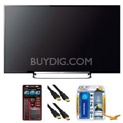 """KDL-70R550A 70"""" 120Hz 3D WiFi 1080p LED HDTV Surge Protector Bundle"""