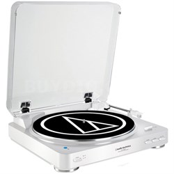 Fully Automatic Wireless Belt-Drive Stereo Turntable - White