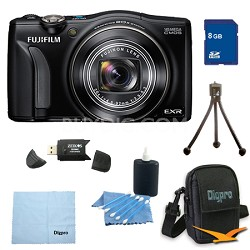 FinePix F750EXR 16MP EXR CMOS Digital Camera 8 GB Bundle (Black)