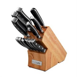 13-Piece Forged High Carbon Stainless Steel Cutlery in Wooden Block - PLKS-2500