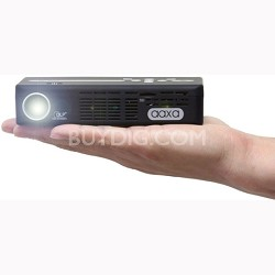 AAXA Technologies P4-X Pico Projector, 125 Lumens, Pocket Size, Li-Ion Battery, HDMI, Media Player