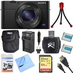 "DSC-RX100M IV Cyber-shot Digital Still 20.1 MP 1"" Sensor Camera Deluxe Bundle"