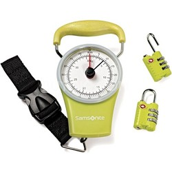 Luggage Scale and Combination Lock Kit - Lime