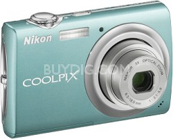 COOLPIX S220 Digital Camera (Aqua Green)