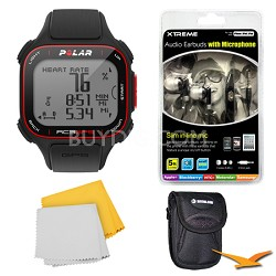 RC3 GPS Watch with Heart Rate Monitor - Black Bundle