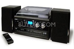 JTA-980/980B 3 Speed Stereo Turntable 2 CD System with Cassette & AM/FM Radio