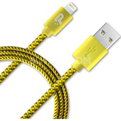 3.3 ft. Woven Lightning Cable - Yellow/Grey (PCALC3FTNGN)