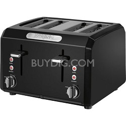 Cool Touch 4-Slice Black Toaster