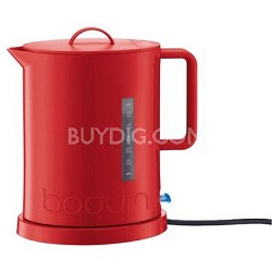 Ibis Cordless Electric 57-Ounce Water Kettle with Concealed Element - Red
