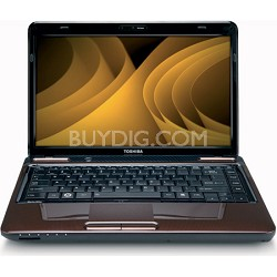 "Satellite 14.0"" L645-S4104BN Notebook PC - Brown Intel Core i3-380M Processor"