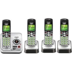 CS6229-4 DECT 6.0 Cordless Phone with 4 Handsets - Black/Silver