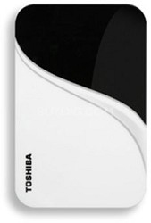 320 GB USB 2.0 Portable External Hard Drive in Vivid White - HDDR320E04XW