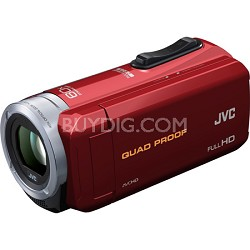 GZ-R10R Quad Proof Red 2.5 MP 40x Dynamic Zoom 60x Digital Zoom HD Camcorder