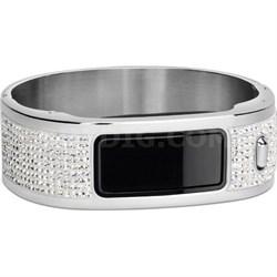 Vivofit Activity Tracker (Black) Glam Bangle Wristband Bundle
