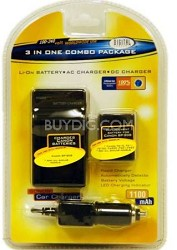 BP-808 Lithium Ion Battery Pack & Charger for Canon FS Series Camcorders