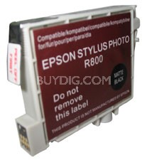 Replacement Ink Cartridge (Matte Black) for Epson Stylus R800/R1800
