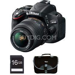 D5100 DX-format 16.2MP CMOS Digital SLR Body w/ 18-55mm VR Lens Bundle Deal