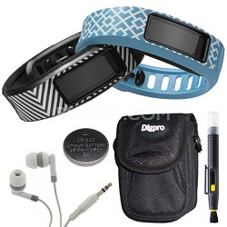 Vivofit 2 Fitness Band Style Collection Black/Cyan - English Packaging Bundle