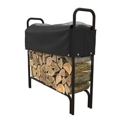 4' Log Rack Cover Black