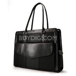 "MEGN1S Geneva Handbag Small black computer case for Laptops up to 15.4"""