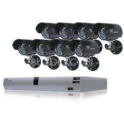 8 Channel H.264 DVR Kit with 8 Cameras and 500GB Hardrive Factory Refurbished