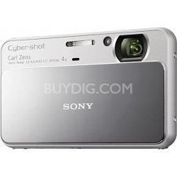 Cyber-shot DSC-T110 16.1MP Silver Touchscreen Digital Camera