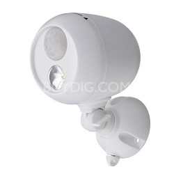 MB330 Wireless LED Spotlight with Motion Sensor & Photocell - White