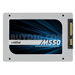 """1TB Crucial M550 SATA 6Gbps 2.5"""" 7mm (with 9.5mm adapter) SSD - OPEN BOX"""