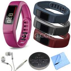 Vivofit 2 Bluetooth Fitness Band (Pink)(010-01503-03) Burgundy/Slate/Navy Bundle