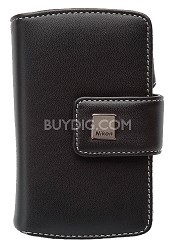 Black Leather Case for Coolpix S6 / S7c