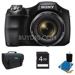 DSC-H200/B 26X Optica Zoom HD Video Digital Camera Kit