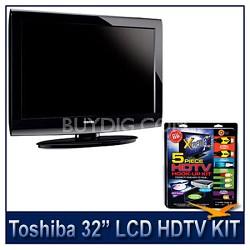"32C100U 32"" 720p LCD HDTV + High-performance HDTV Hook-up & Maintenance Kit"