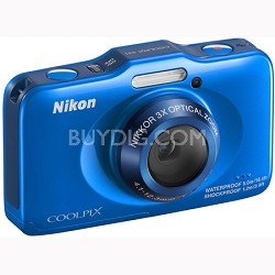 COOLPIX S31 10.1MP 720p HD Video Waterproof Digital Camera - Blue