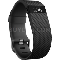 Charge HR Wireless Activity Wristband, Black, Small - OPEN BOX