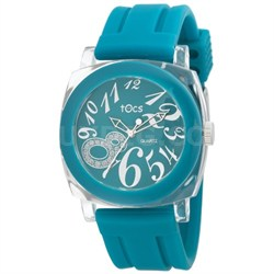 """""""Crystal 8"""" Analog Round Watch Turquoise - 40725"""
