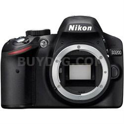 "D3200 24.2 MP DX CMOS Digital SLR Camera Body Only Black 3"" LCD HD 1080p"